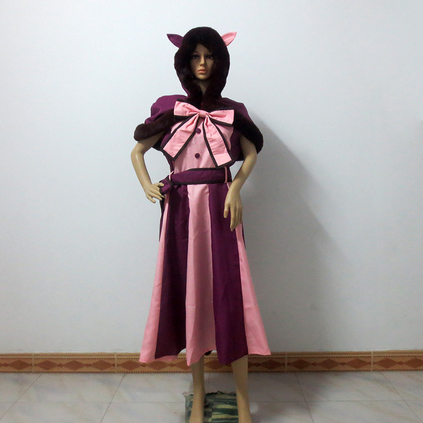 Alice's Adventures in Wonderland The Cheshire Cat cosplay costume Customized Any Size