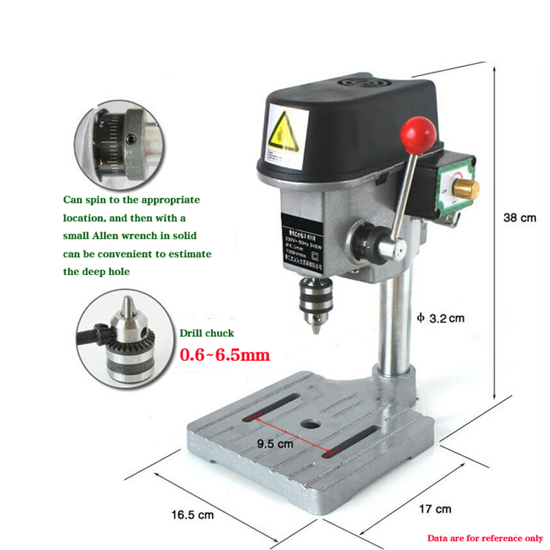 GB-5158B Mini multi-function electric drilling Micro bench drilling Household drilling machine 340 W 220 V 0.6mm-6.5mm cukyi household electric multi function cooker 220v stainless steel colorful stew cook steam machine 5 in 1