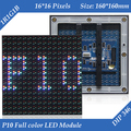 160*160mm 16*16 pixels 7000cd/sqm 1/4 Scan DIP346 RGB Outdoor Full Color P10 LED screen module