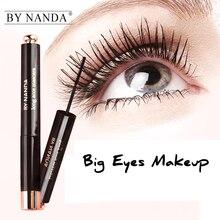 BY NANDA Natural Long Curling Black Eye Lashes Mascara Waterproof For Eyes Rimel Eyelashes Makeup Fashion