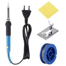 Jcsouder fer à souder électrique à température réglable avec pointes 110V, 220V, 60W, soudure de qualité 908