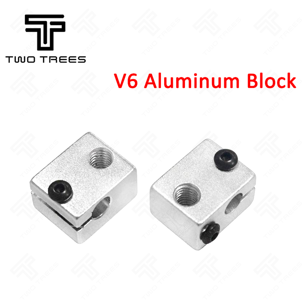 Official Ismaring 3 D Printer Parts Reprap E3d V6 Aluminium Heater Block For Hotend Sand Blasting Surface 20*16*11.5mm Parts & Accessories