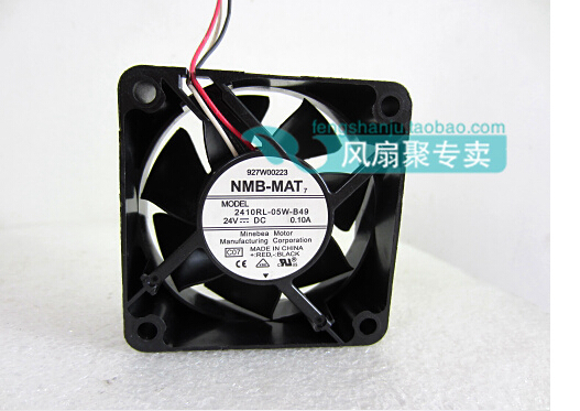 New original NMB 2410RL-05W-B49 6cm 6025 24V0.10A60*60*25MM frequency converter cooling fan nmb new and original fba09a12m 9025 9cm 12v 0 2a chassis silent cooling fan 90 90 25mm