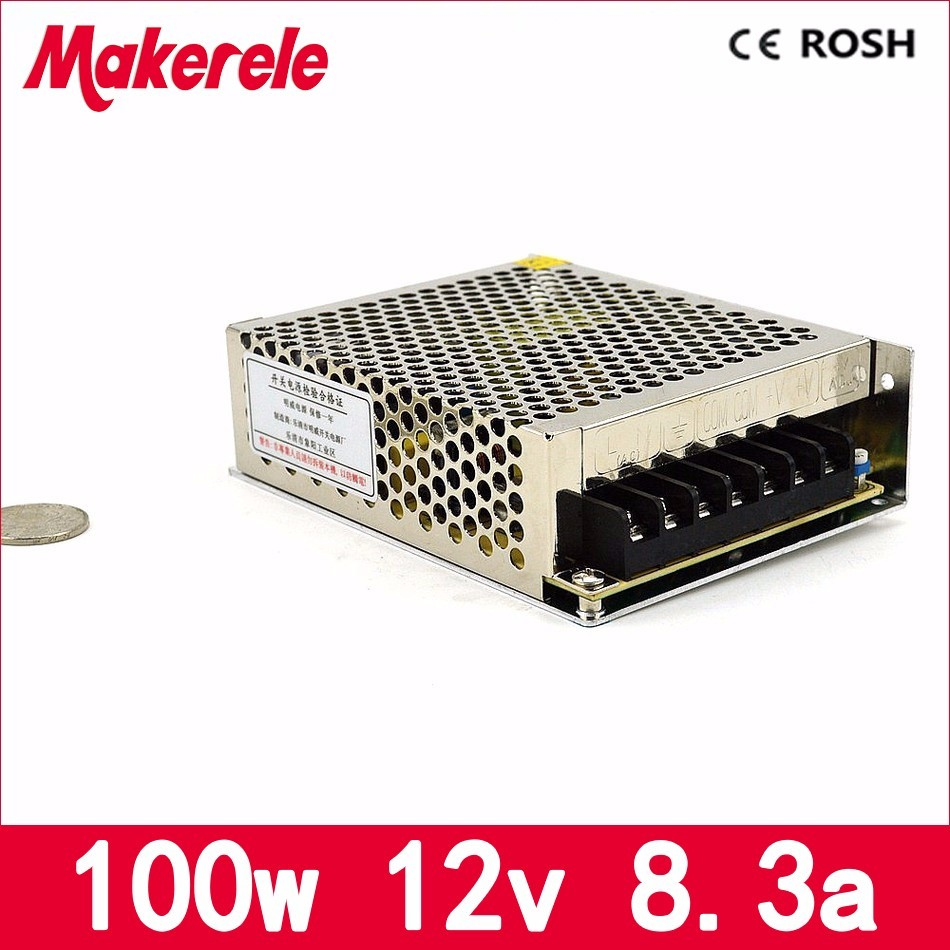 110V 220V AC to 12v dc 100w 8.3A MS-100-12 Mini size model direct sale led switching power supply with CE single output ac dc switching power supply 12v 15w 220v 110v to 12v dc adapter for led display led string led sign high efficiency mini size