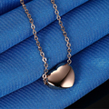 Rose gold plated heart-shaped necklace female clavicle chain pendant Titanium steel statement necklaces & pendants women jewelry