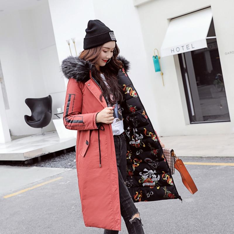 Section 2018 Grande West La Nouvelles Coton Red beige black Col Brown Capuche Xylxjq Taille Hiver Longue Extérieur Grand Dans Sh125 Veste Femmes À dark Manteau De Fourrure Solide z0wqPBq