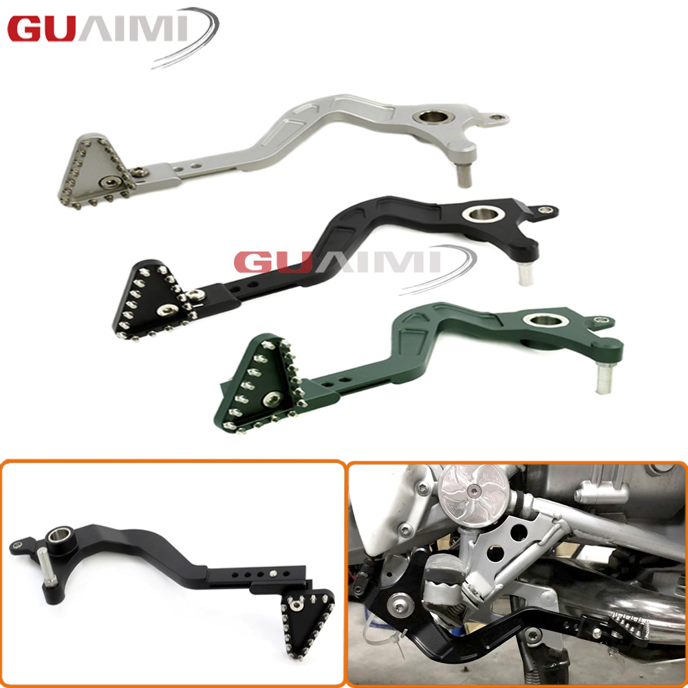 For BMW R1200GS /Adventure 2008-2012 Motorcycle CNC Aluminum Adjustable Folding Rear Foot Brake Lever Pedal bjmoto motorcycle cnc adjustable folding gear shift lever shifter brake pedal for bmw r1200gs lc r1200gs adv 2014 2016