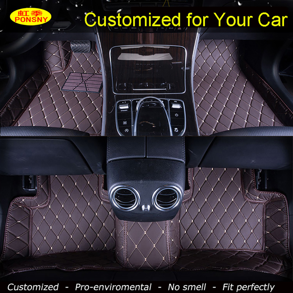 Ponsny Car Floor Mats For Honda Crv Accord 7 8 9 Odyssey Elysion Fit City Civic Crosstour Spirior Foot Carpets Cutomized Rugs