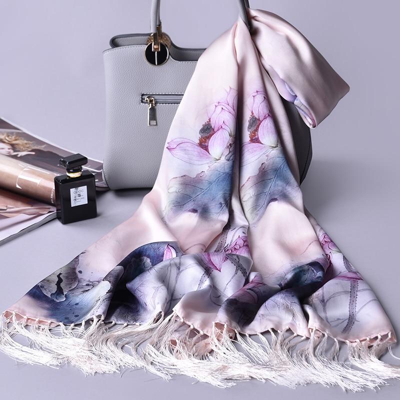 2019 chinois 100% soie wrap écharpe femmes châles et enveloppes pour dames marque de luxe Hangzhou vraie soie foulards Echarpes Foulard