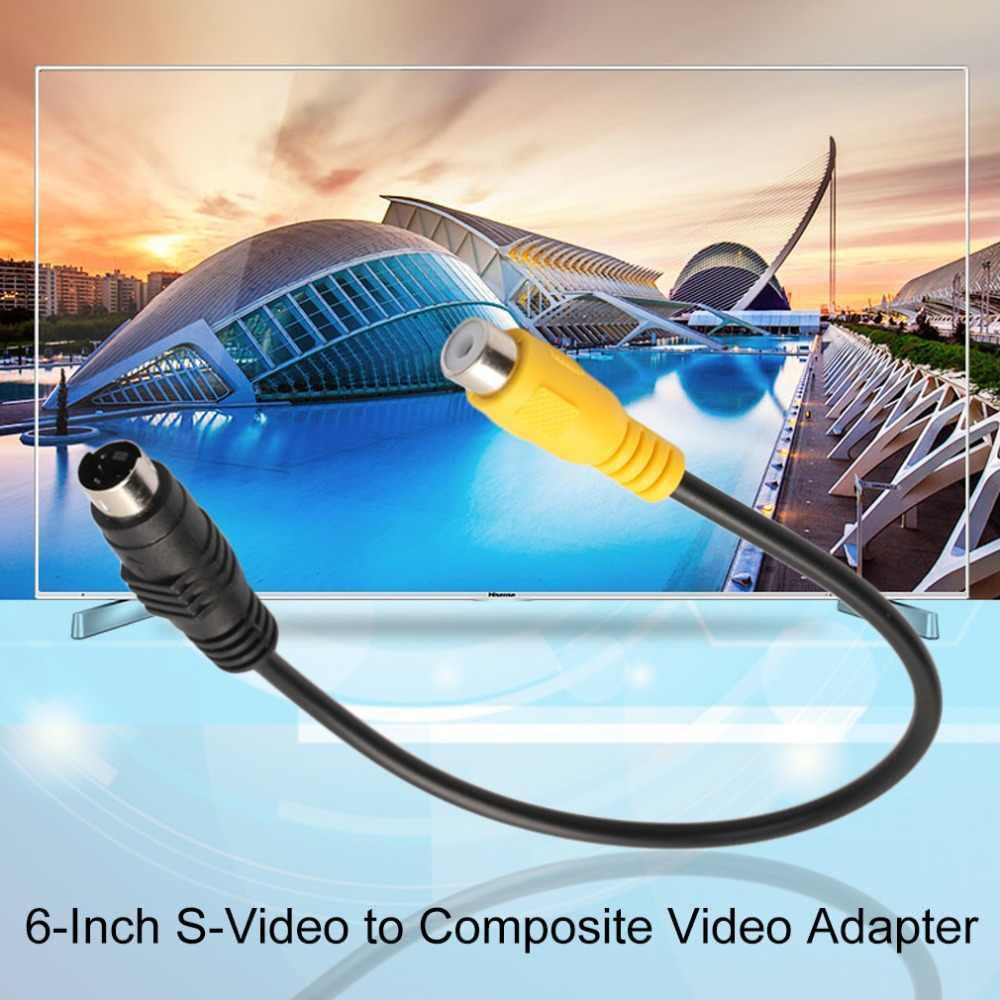 6 Inch 4 Pin S-Video untuk Video Komposit Kabel Adaptor Bekerja dengan Semua VGA dengan S-Video antarmuka Desain Profil Rendah