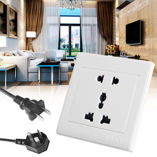 1Pc Universial 5 Hole Electric AC Power Outlet Panel Plate Wall Charger Dock Socket(China)