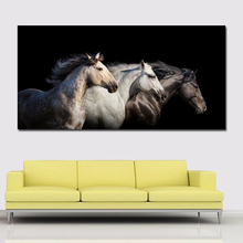 Big Canvas Modern Oil Painting Horse Printed On Wall Art Picture Pictures for Living Room Printing
