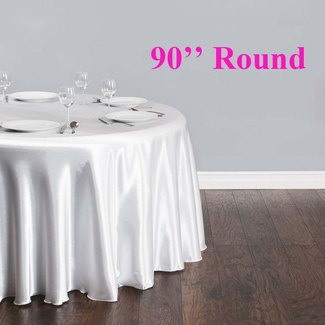 free shipping 10pcs 90 round cheap white satin table cloth banquet rh aliexpress com cheap event table linens cheap ivory table linens