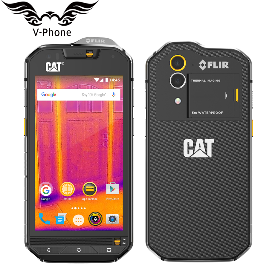 Gato S60 IP68 teléfono móvil impermeable a prueba de polvo Dropproof 4G LTE 4,7
