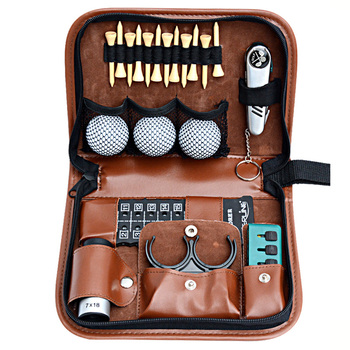 Golf equipment kit waterproof golf accessories handbag multi-function ball nail ball clip rangefinder set small golf bag