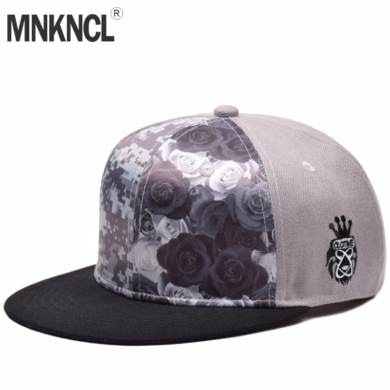 MNKNCL 2018 New Colorful Printing Pattern Baseball Cap Fashion Trends Hip Hop Snapback Cap For Men Women Leisure Caps cntang brand summer lace hat cotton baseball cap for women breathable mesh girls snapback hip hop fashion female caps adjustable