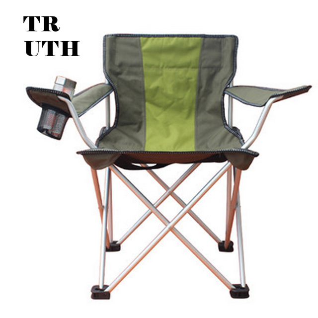 Authentic CMARTE Large Folding Aluminum Armchair Outdoor Recreation Beach  Fishing Chair Backrest Director