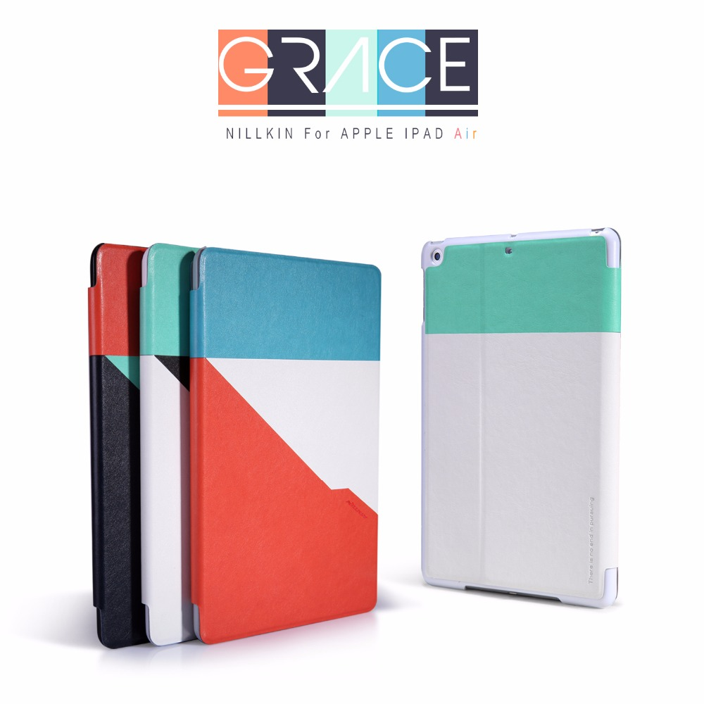 Case for Apple iPad Air 1st Gen,Nillkin Smart Magnetic Leather Cover Slim Auto Sleep/Wake Up Brand Protect Shells for Travel for ipad air 2 air 1 case slim pu leather silicone soft back smart cover sturdy stand auto sleep for apple ipad air 5 6 coque