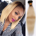 New Arrival 1b#613 blonde straight ombre hair 3 bundles Brazilian ombre straight hair extensions 613 honey blonde Hair weave