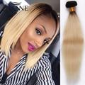 Nueva Llegada ombre pelo 1b #613 rubio recta 3 bundles extensiones de pelo ombre rectas Brasileñas 613 honey blonde Hair armadura