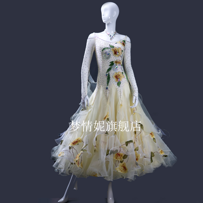 Customize New Ballroom Dance Dress Standard Ballroom Waltz Dresses Ballroom Dance Competition Dresses Custom Made MD524