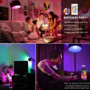 Image 5 - スマート E27 LED RGB RGBW RGBWW マジック電球ランプ 5 ワット 10 ワット 15 ワット 110 V 220 12V LED スポットライト + Ir リモートまたは Bluetooth 4.0 アプリ制御