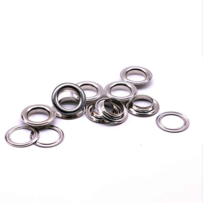50sets 3mm-20mm 금속 Eyelets Leathercraft DIY Scrapbooking 구두 벨트 모자 가방 태그 옷 배낭 액세서리