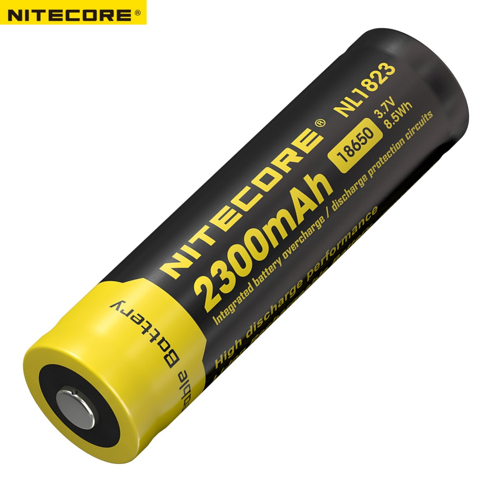 Nitecore NL1823 (NL183) 18650 2300mAh 3.7V 8.5Wh Rechargeable Li-on Battery High Quality With Protect
