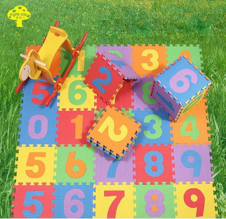 Ecofriendly Baby Kids Digits EVA Floor Mat Colorful