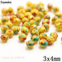Isywaka 3X4mm 30,000pcs Rondelle Austria faceted Crystal Glass Beads Loose Spacer Round Beads Jewelry Making NO.32