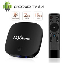Leelbox 2GB 16GB Set top TV MXQ Pro Amlogic S905W Android 8.1 Smart TV Support 4K H.265 2.4G WiFi BT Google store Media Pl
