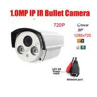 Free Shipping 2 Array Led 1MP 720P HD IP Cam CCTV IP Camera Outdoor Infrared Night Vision IR Bullet Box Camera