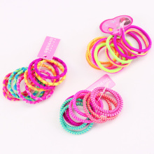 10PCS/Lot WholeSale Girls Hair Band Colorful Cute Elastic Rubber Bands Kids Hair Ropes Ponytail Holder Tie Gums Hair Accessories