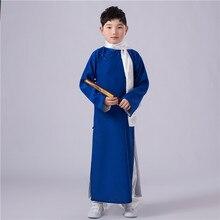 Костюмы для детей халаты Древняя китайская костюмы династии Тан костюмы для мальчиков китайский Hanfu этап фильм одежда для сцены