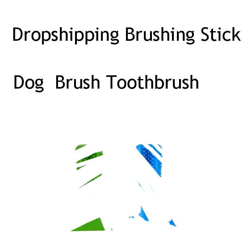 Dog Toys Dropshipping Brushing Stick Dog Brush Effective Toothbrush For Dogs Pets Oral Care Dog Brushing Stick