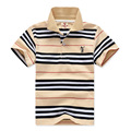2-7yrs Polo Shirts For Boys Brand Boys Girls Cotton Shirts Polo New 2017 Children Clothing High quality Stripe Boys Clothes