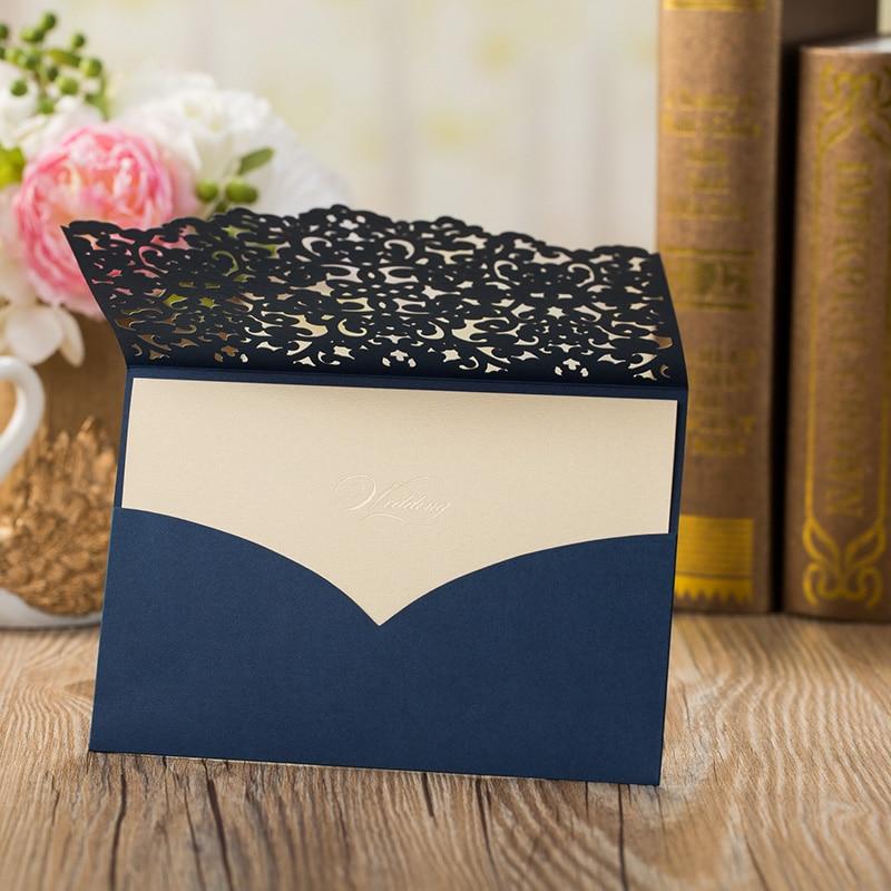 1pcs Sample High Quality Laser Cut Luxury Flora Wedding Invitations Card Elegant Lace Favor Wedding Party Supplies 185127mm (2)