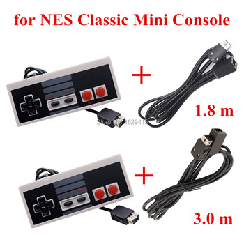 IVYUEEN para NES Classic Mini sistema de entretenimiento consola controlador Gamepad con 1,8 m/3,0 m 10FT Cable de extensión