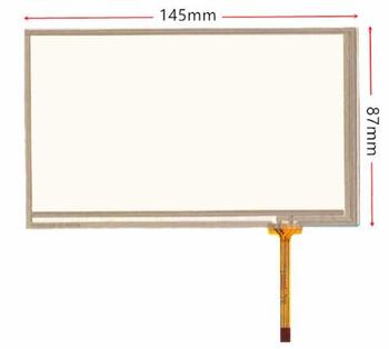 10pcs/A LOT 6.2 inch 4 Wire Resistive Touch Panel Digitizer Screen ,size: 145 87mm ,145*87mm