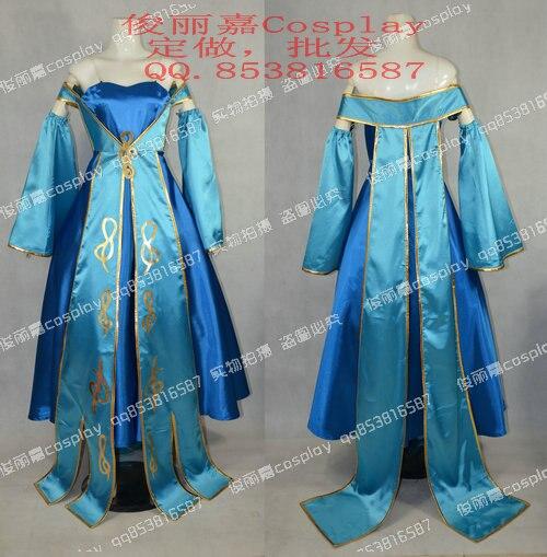 Maven LOL des cordes Sona Buvelle Cosplay Costume Halloween robe de noel