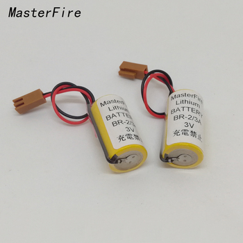 MasterFire 10pcs/lot New Original Battery For Panasonic BR-2/3A 3V PLC Lithium Batteries With Two-hole Plug
