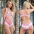 Hot Porno Baby Dolls Sexy Lingerie Babydoll de Renda Transparente Roupa  Interior das Mulheres Lingerie Sexy d2782f8f34a