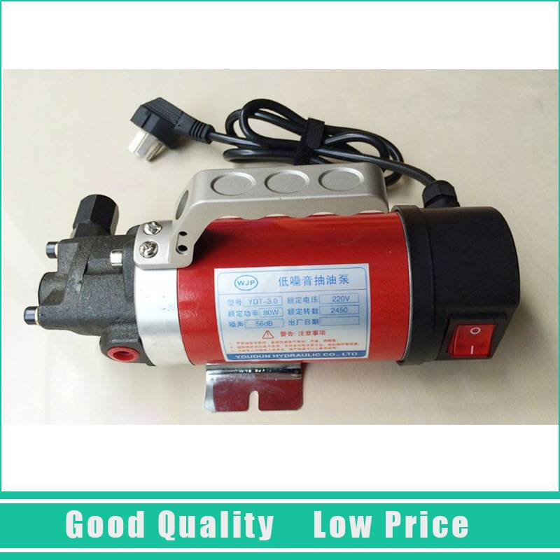 12V Hydraulic Oil Transfer Pump 2.5L/min Mini Oil Pump cast iron micro oil transfer pump 12v electric 5l min gear oil pump