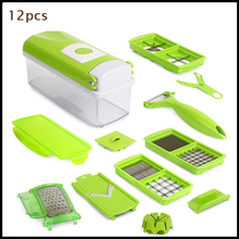 CF250 2016 New 12pcs / set multifunctional kitchen cutting artifact potato cutter chopped vegetables for household knives