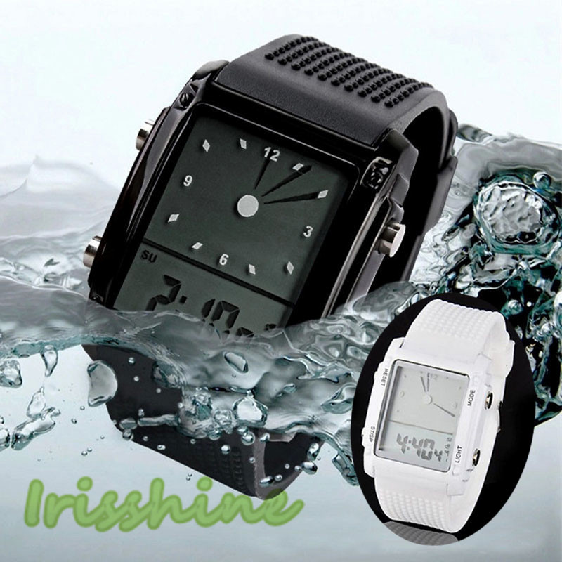 Irisshine C0418 Hot  Fashion Unisex Womens Mens Digital Led Chronograph Quartz Sport Wrist Watch Relogio Masculino Love Gift