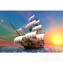5d Diy Diamond Painting Sailing Embroidered Full Inlay Home Decor R015