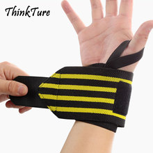 1Pcs Gym Adjustable Elastic Wrist Support Wraps Brace Bandages Hand Protection Breathable Wristband For Weightlifting Blue