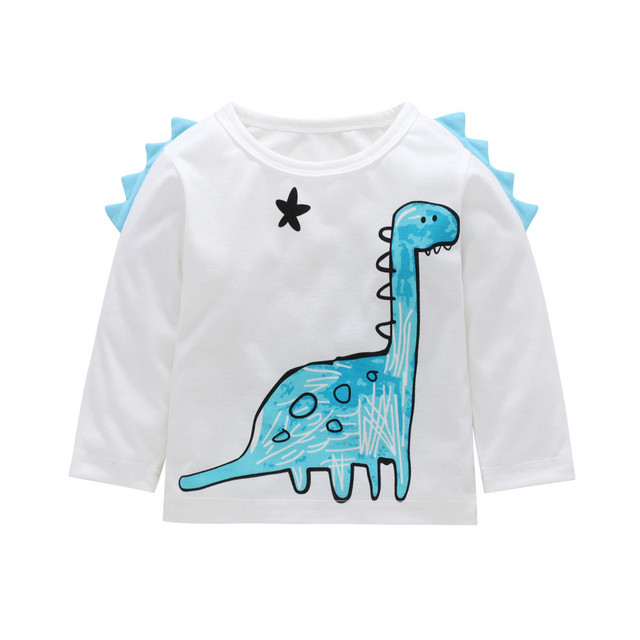 b39dd0c6ad8b6 MUQGEW Toddler Newborn Kids Baby Boy Girl Clothes Dinasour Long Sleeve T  shirt Tops Clothes Outfits roupa infantil ropa bebe-in T-Shirts from Mother  & Kids ...
