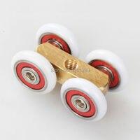 Free Shipping Door Roller Ultra Quiet Wooden Door Sliding Door Pulley Hanging Rail Track Nylon Wheel