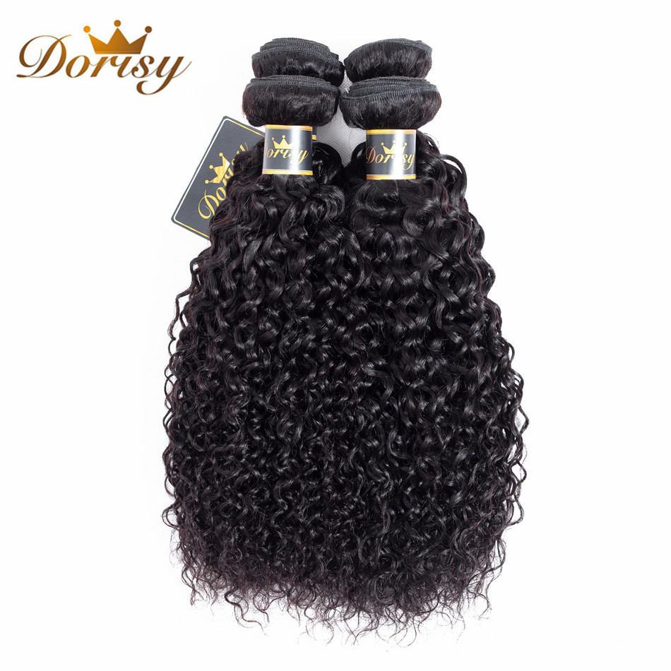Dorisy Hair Pre-Colored Peruvian Kinky Curly Natural Color Human Hair Weave Bundles 8-26 Inch 100% Human Non Remy Hair Extension